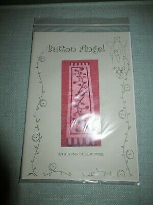 #24 Autumn Table Runner Pattern By Button Angel - Quilting, Sewing, Crafts