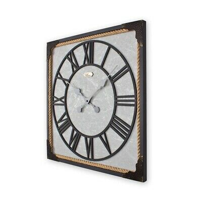 55cm Metal &MDF Square Home Decor wall clock By Regal Ultima