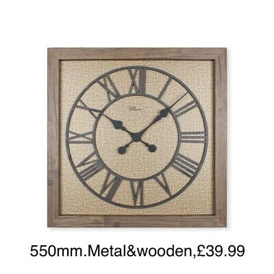 55 Cm Metal & MDF Square Home Decor Modern wall clock By Regal Ultima