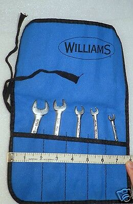 """5  piece double open end wrench Set  9/16"""" to 3/16""""    w/ pouch USA   Very  Good"""