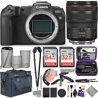 Canon EOS RP Mirrorless Digital Camera with 24-105mm Lens w/Canon Mount Adapter