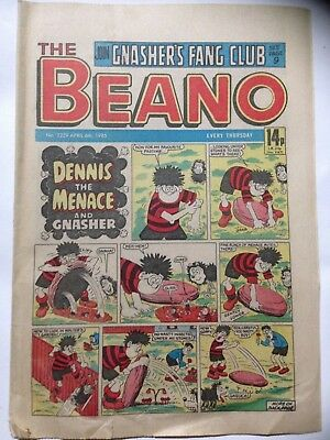 DC Thompson THE BEANO Comic. Issue 2229. April 6th 1985 **Free UK Postage**