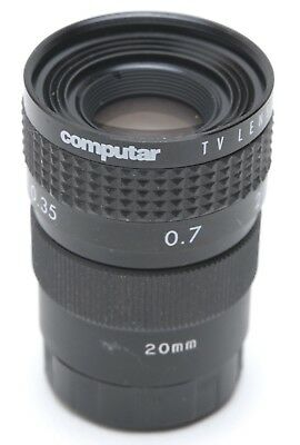 16 mm Computar 1.4 TV LENS W/ 20 mm Extension tube