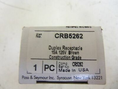 Pass & Seymour Legrand Crb5262 Duplex Receptacle * New In Box *