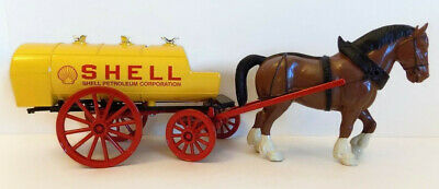 Ertl Antique Horse Drawn Shell Tank Wagon Coin Bank Die-Cast Metal With Box Coa