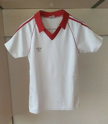 f315da5f1b3 Adidas Vintage Retro 80 s White Soccer Football Jersey Made in West Germany  S