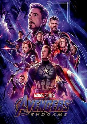 Avengers Endgame Marvel Poster A4 A3 A2 A1 Cinema Movie Large Format
