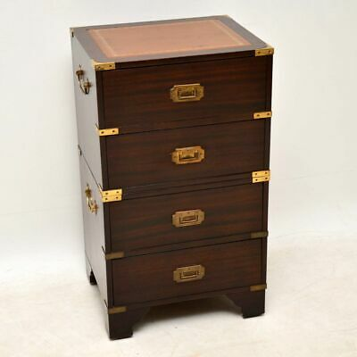 Antique Mahogany Military Campaign Style Chest of Drawers