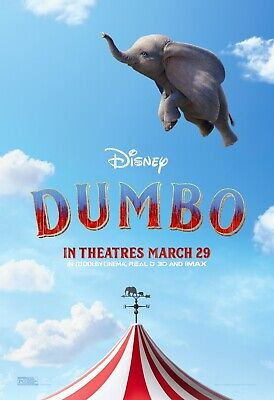 Dumbo Remake 2019 Disney Poster A4 A3 A2 A1 Cinema Movie Large Format