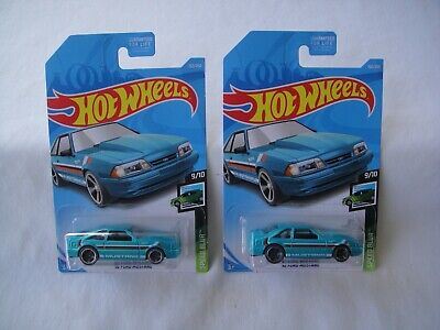 New  2019 Hot Wheels,  Lot Of 2, 92 Ford Mustang, Speed Blur, G-Case