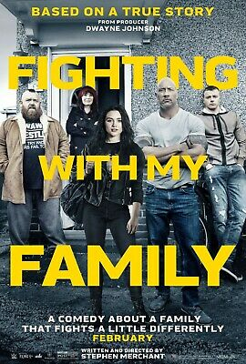 Fighting With My Family Poster A4 A3 A2 A1 Cinema Movie Large Format