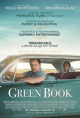 Green Book Oscars Best Picture Poster A4 A3 A2 A1 Cinema Movie Large Format