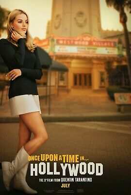 ONCE UPON A TIME IN HOLLYOOD DICAPRIO TARANTINO POSTER A4 A3 A2 A1 CINEMA MOVIE