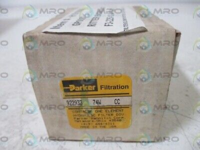 Parker 922933 74W Cc Filtration * New In Box *
