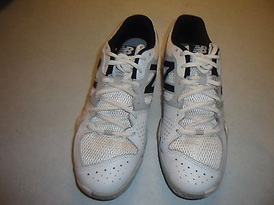 New Balance Women's White/Bl/Gry Wc696Ws Athletic Shoe Sz 9.5B~Clean,Gently Worn