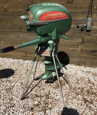 VINTAGE 1954 JOHNSON Seahorse Outboard Boat Motor 25 Hp Toy