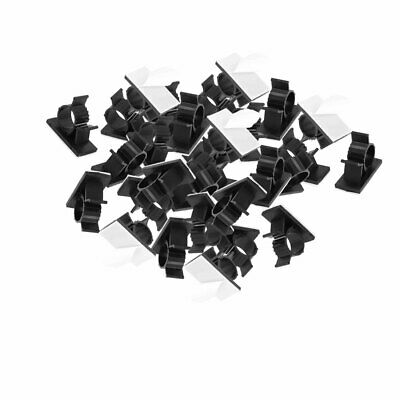 30 Pcs 18mmx37mm White Adhesive Backed Nylon Wire Adjustable Cable Clips Clamps