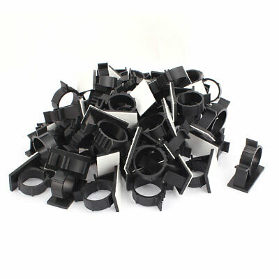 50Pcs 21mmx42mm White Adhesive Backed Nylon Wire Adjustable Cable Clips Clamps