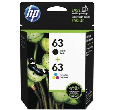 HP #63 Combo Ink Cartridges 63 Black & Color BRAND NEW GENUINE EXP 2020