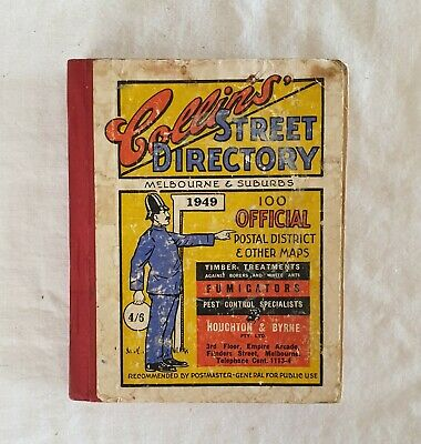 Collin's Street Directory - Melbourne & Suburbs 1949