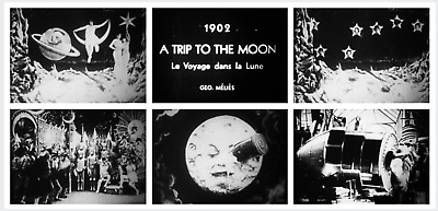 "16mm Film: VOYAGE DANS LA LUNE ""A Trip to the Moon"" MUSICAL SOUNDTRACK - Méliès"