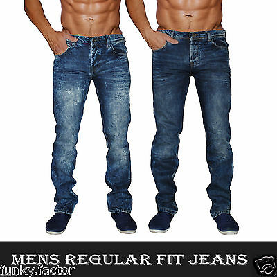 "BNWT Mens Boys Branded Straight Fit Fashion Denim Jeans Mens Jeans UK 28""-40"""