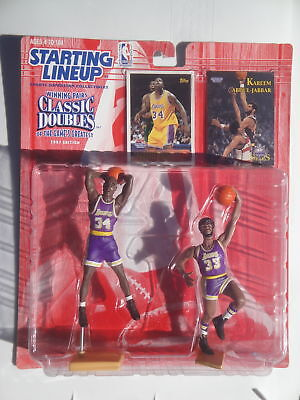 factory authentic 22671 d37f7 Starting Lineup Shaquille O neal Kareem Abdul Jabbar La Lakers Classic  Doubles