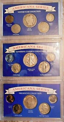 Americana Series Coin Collections: 3 Sets Of Yesteryear, Classics & Presidents