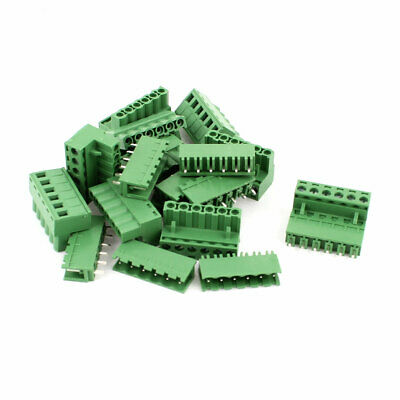 10 Pair 6 Pins 5.08mm Pitch Male Female PCB Screw Terminal Block Connectors
