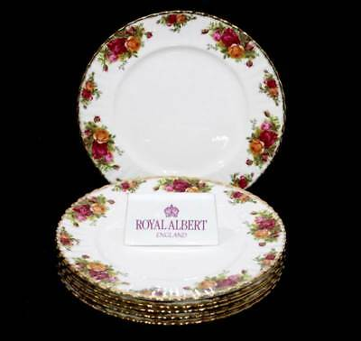 Vintage Royal Albert Old Country roses set of 6 large dinner plates