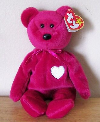 b06256c4d2863 Ty Beanie Baby Valentina Bear Collectible Red Bear With White Heart