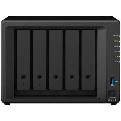 Synology DiskStation DS1019+ 8tb SSD NAS Server 4x2000gb Crucial MX500 Drives