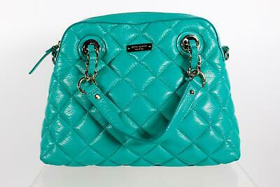 Kate Spade New York Green Quilted Leather Satchel Purse