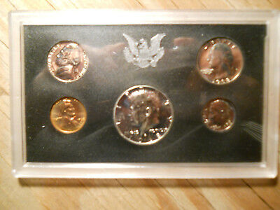 1968 U.s. Mint Five Coin Proof Set With Kennedy Half And Original Box