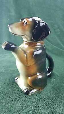 Vintage Erphila Ceramic Dachshund Doxie Dog Teapot Made In Germany 6703B Pre war