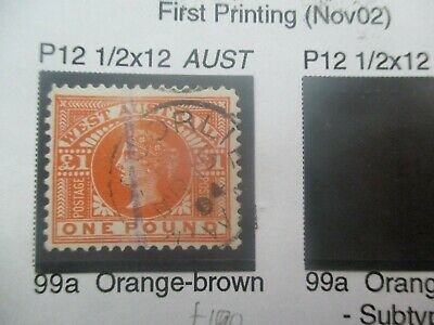 Western Australia Stamps: £1 Queen Victoria  Used   - Rare Item   (a130)
