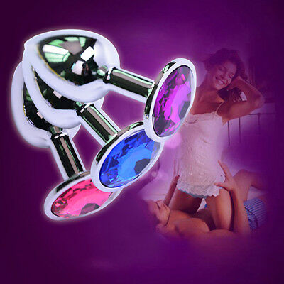 1 PC Butt Toy Insert Plug Stainless Steel Metal Jeweled Plated Stopper