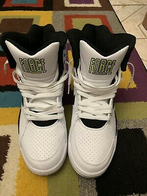 f3218cdadcdad Nike Air Command Force Billy Hoyle White Black Wolf Grey Volt Size 9 684715- 100