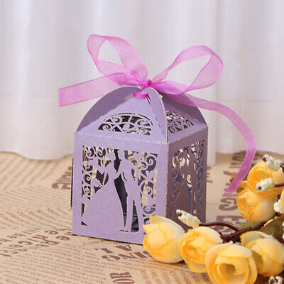 10 Pcs Laser Cut Candle Candy Box Wedding Party Favor Gift Box Wrap Bag Healthy