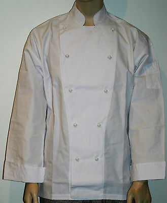 3 x White chefs Jackets with White Buttons