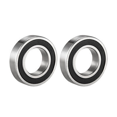 Deep Groove Ball Bearing 6903-2RS Double Sealed 17 x 30 x 7mm Carbon Steel 2Pcs