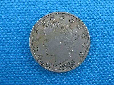 1907 US Liberty Head V Nickel 5 Cent Coin