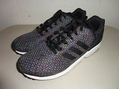ef5bce4ad Adidas Zx Flux Low Running Sneakers Men Shoes Black multi Aq4023 Size 11.5