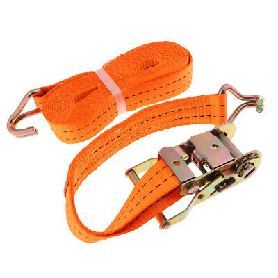 6 Meter Strong Belt Ratchet Tie Down Truck Cargo Strap Luggage Bag Fastener