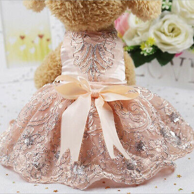 Lovely Bowknot Puppy Dog Dress Fashion Pet Clothes Sleeveless Apparel Costume