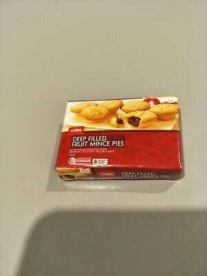 Coles Little Shop Christmas Limited Edition Minis DEEP FILLED FRUIT MINCE PIES