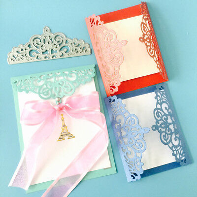 Lace Edge Cutting Dies Stencil Paper Gift Card Embossing Craft DIY Die-Cut Filmy