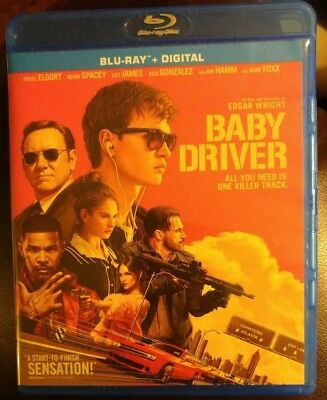Baby Driver Blu-Ray Ansel Elgort, Lily James No Digital Code