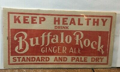 VINTAGE BUFFALO ROCK SODA CARDBOARD Table SIGN - BIRMINGHAM- 3x6 Pepsi Company