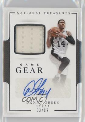 2016-17 Panini National Treasures Game Gear Autographs #16 Danny Green Auto Card
